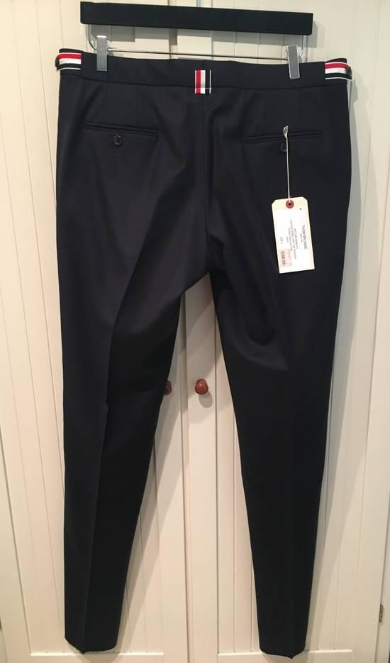 Thom Browne Side Tab Skinny Pants in Navy Twill Wool Size US 36 / EU 52 - 3