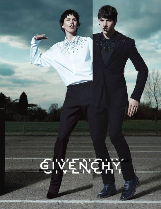 Givenchy GIVENCHY 2012 F/W STAR STUDS & CRYSTAL BEADS WHITE SHIRT Size US M / EU 48-50 / 2 - 2