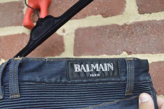 Balmain Dirty Blue Biker Jeans Size US 33 - 8