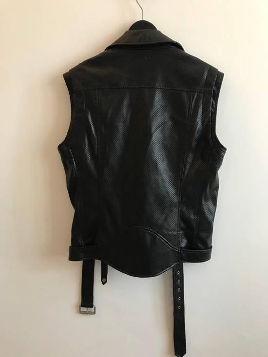 Balmain $1200 Last Drop Before Delete Perforated Eco Leather Vest Black Size US M / EU 48-50 / 2 - 9