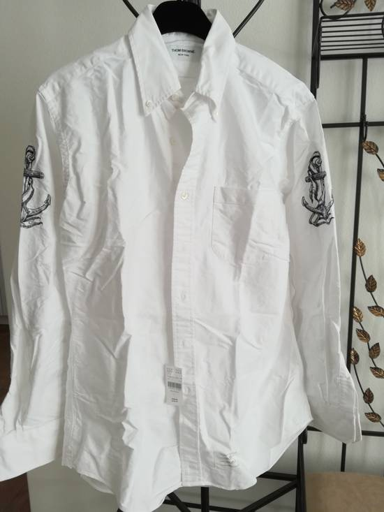 Thom Browne thom browne classic shirt with anchor embroidery sleeves Size US L / EU 52-54 / 3