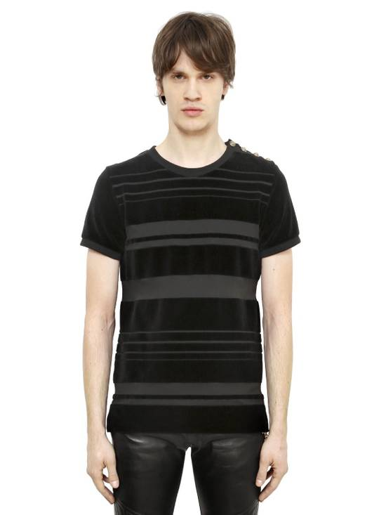 Balmain Balmain Striped Velvet Jersey Top Size US S / EU 44-46 / 1 - 5