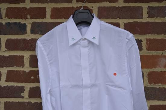Givenchy White Metal Stars Collar Shirt Size US L / EU 52-54 / 3 - 4