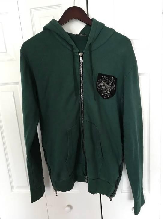 Balmain Embroidered Crest Side Zip Hoodie Size US L / EU 52-54 / 3