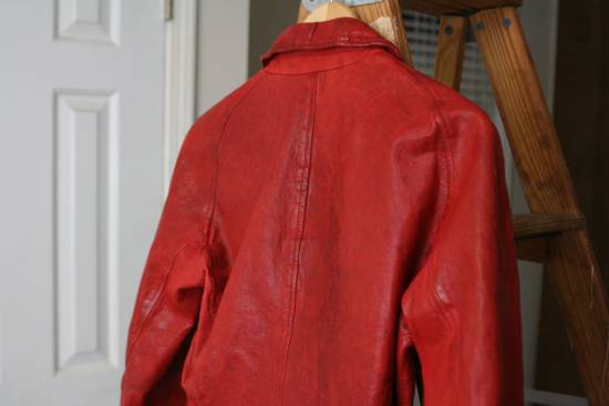 Julius FW09 'protectionism' Red Lambskin Rider Size 2 Size US S / EU 44-46 / 1 - 8