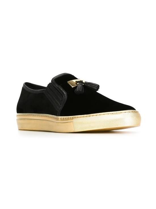 Balmain Men's Black Tasseled Velvet Slip-on Sneakers (BN) Size US 11 / EU 44 - 1