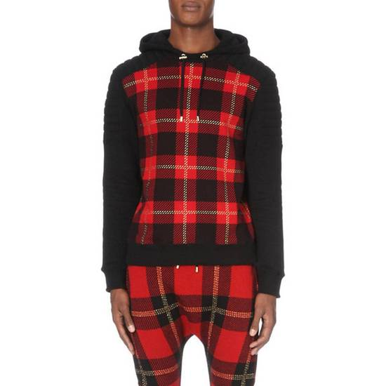 Balmain Tartan hooded sweatshirt Size US XL / EU 56 / 4 - 8