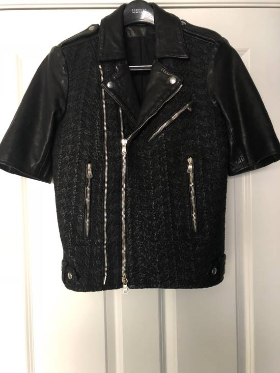 Balmain Balmain Paris Handwoven Short-sleeve Leather Jacket Size US S / EU 44-46 / 1 - 1
