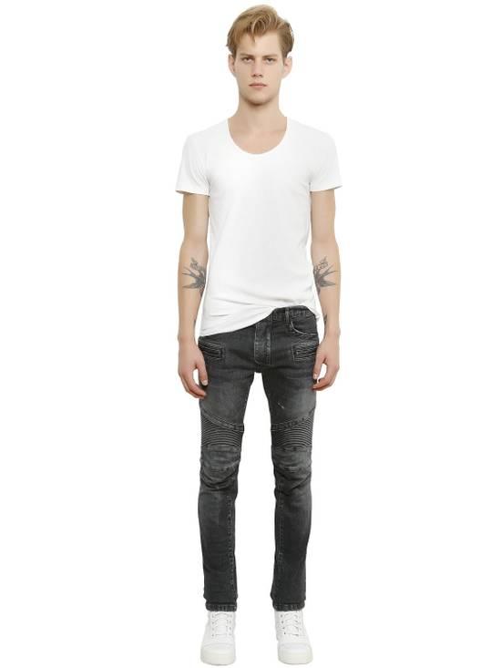 Balmain White Ribbed T-shirt Size US M / EU 48-50 / 2 - 3