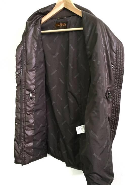 Balmain Puffer Jacket Monogram Bailman Button Up Full Zipper Size US L / EU 52-54 / 3 - 6