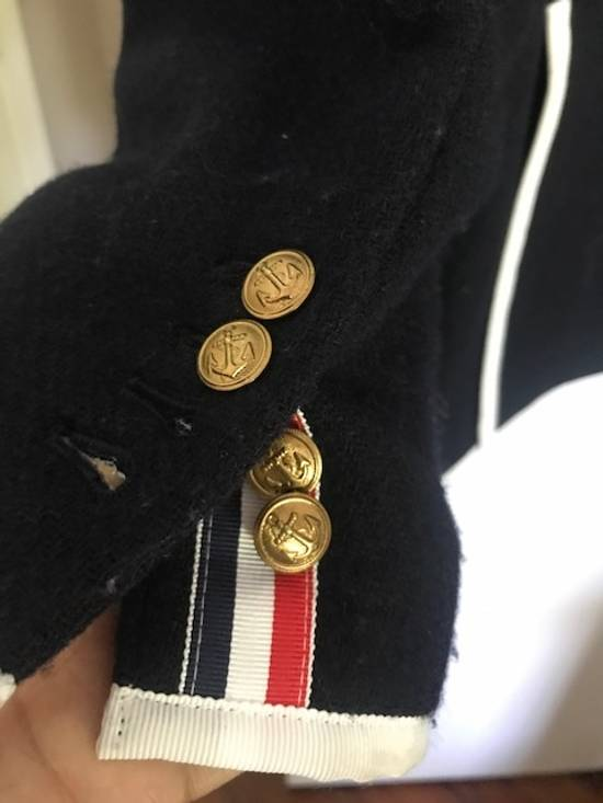 Thom Browne Blue navy blazer with white pipping Size 40R - 3