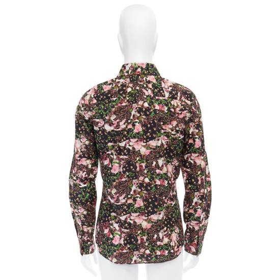 Givenchy GIVENCHY Pre14 reversed panel rose floral digital print cotton shirt US40 FR50 Size US M / EU 48-50 / 2 - 6