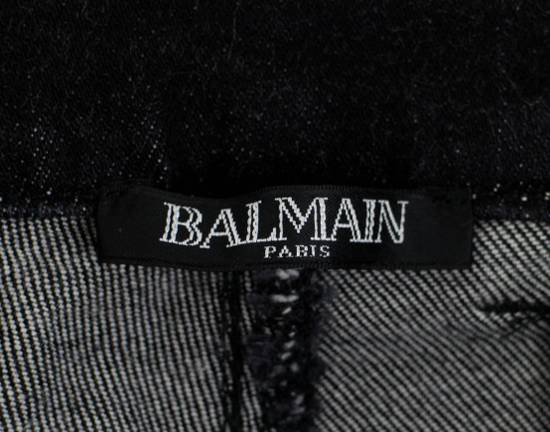 Balmain BNWT Biker Skinny Waxed Denim Black Zipper Jeans Size US 30 / EU 46 - 8
