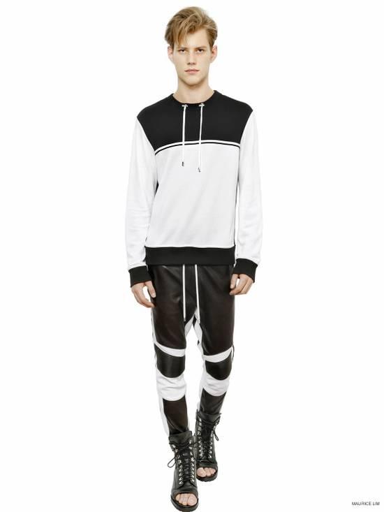 Balmain Balmain Men's Black Biker Style Nappa Leather Trousers Size US 32 / EU 48 - 6