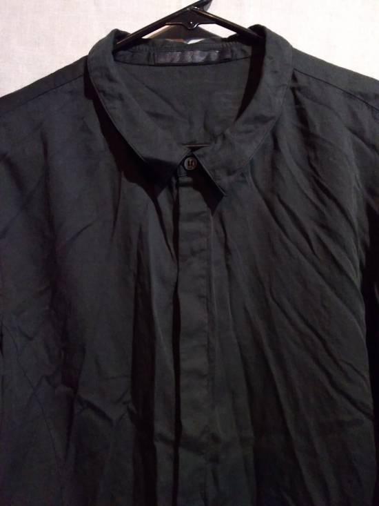 Julius Black Button Down Shirt Cotton/Silk ss10 Size US L / EU 52-54 / 3 - 2