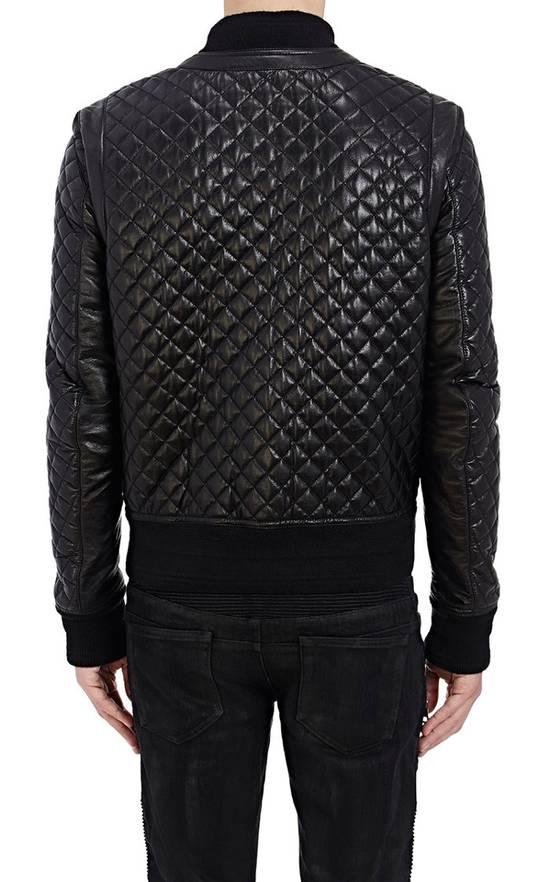 Balmain Balmain Quilted Leather Bomber Varsity Jacket Size 50 Black FW16/17 Brand New $5245 Size US M / EU 48-50 / 2 - 7