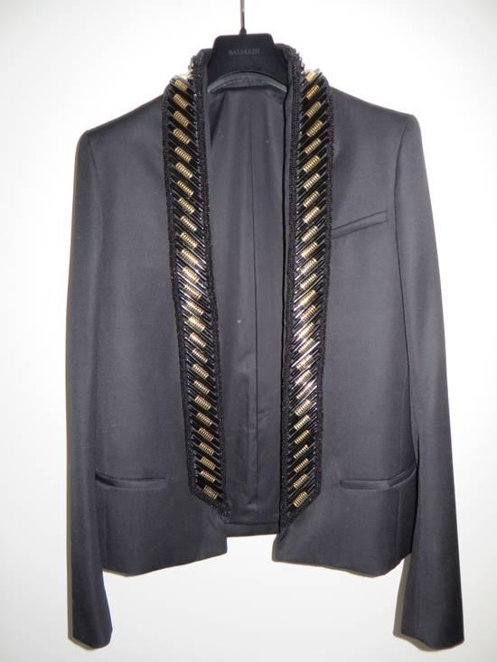 Balmain Beads embroidered collar blazer Size 48R