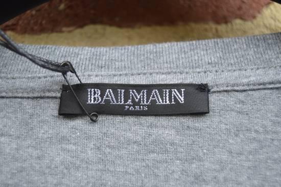 Balmain Grey Distressed V-Neck T-shirt Size US M / EU 48-50 / 2 - 2