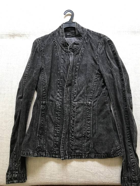 Julius AW12 faded denim jacket with zip. Size US M / EU 48-50 / 2
