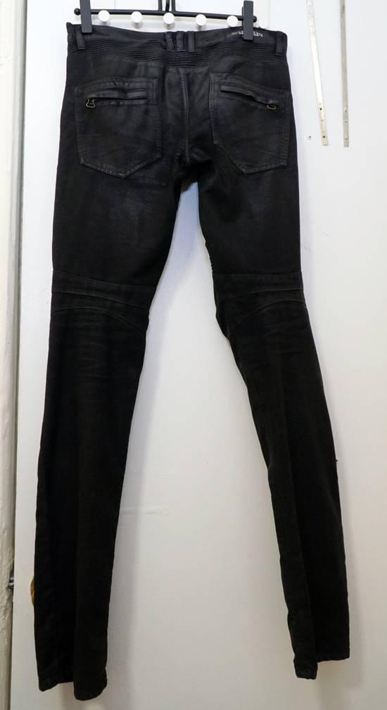 Balmain Waxed biker jeans black Size US 32 / EU 48 - 2