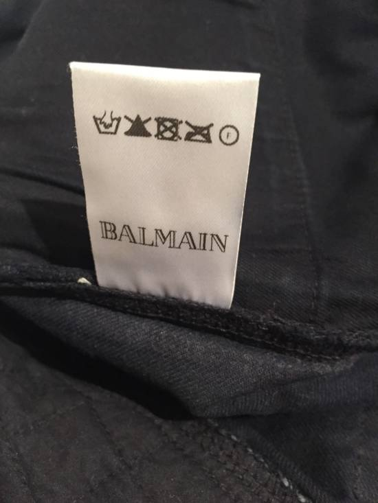 Balmain Quilted Waxed Biker Jeans Size US 31 - 8