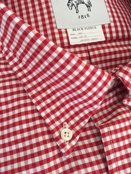Thom Browne Red Gingham Oxford Button-Down Shirt Size US L / EU 52-54 / 3 - 1