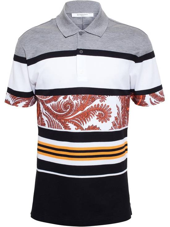 Givenchy Paisley Stripe Cuban Cotton Polo Size US S / EU 44-46 / 1