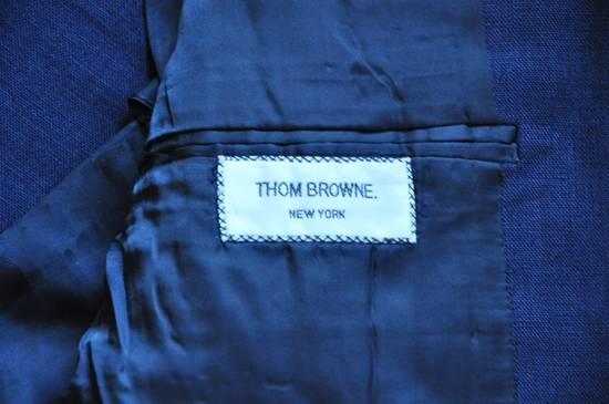 Thom Browne Navy Linen Blazer Size 40R - 4