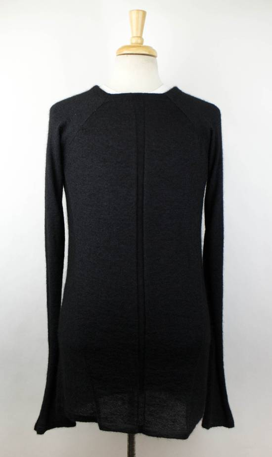 Julius 7 Black Silk-Mohair 'Square Neck Panelled' Sweater Size 1/XS Size US XS / EU 42 / 0