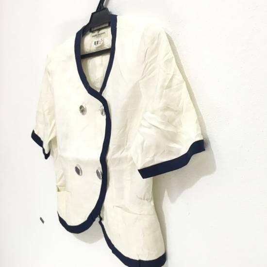 Balmain PIERRE BALMAIN PARIS Double Breasted Made In ITALY White Blouse Jacket Blazer Size 36S - 3