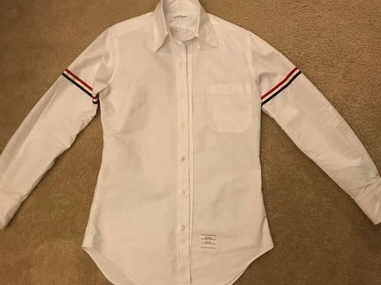 Thom Browne White Oxford Grosgrain Classic Shirt Size US XXS / EU 40