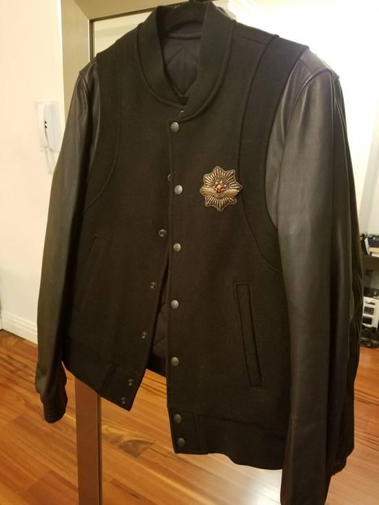 Balmain Balmain Varsity Teddy Bomber Jacket Leather Wool Black Size 52 Decarnin FW10 Large Baseball Size US L / EU 52-54 / 3 - 4