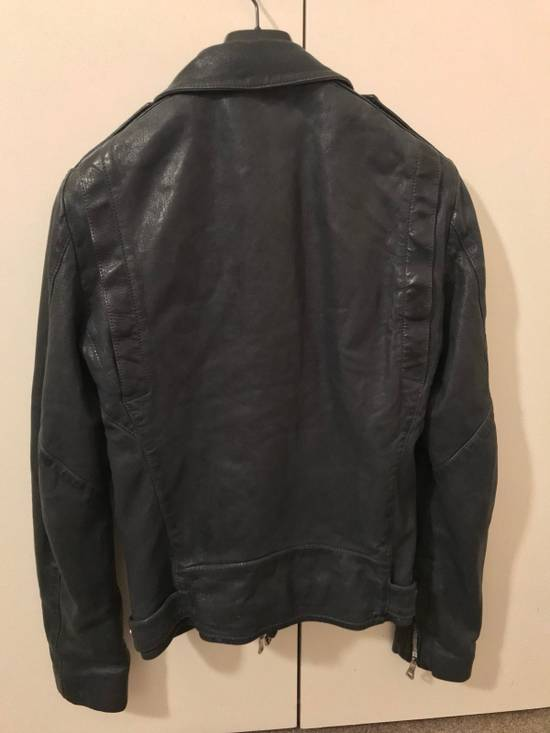 Balmain Navy Balmain Leather Jacket Size US S / EU 44-46 / 1 - 8
