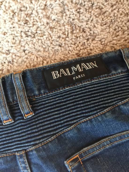 Balmain blue biker ss15 Size US 30 / EU 46 - 7