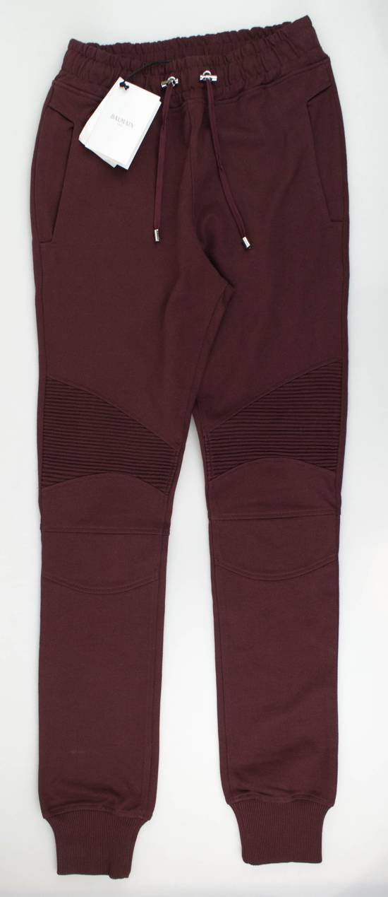 Balmain Burgundy Cotton 'Calecon Nervures' Sweatpants Pants Size XS Size US 30 / EU 46
