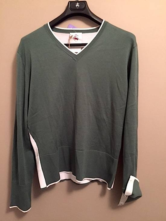 Thom Browne Green-White Color Block Sweater NEW Size US XL / EU 56 / 4