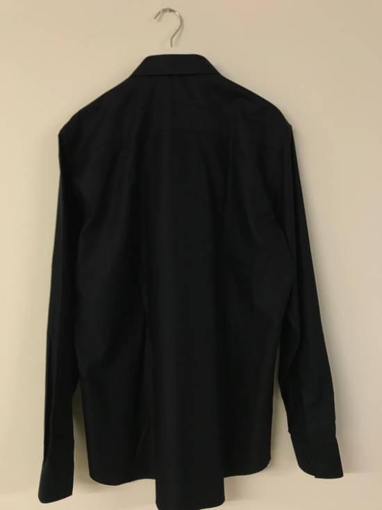 Givenchy Metallic Tipped Collar Shirt (Size - 42) Size US L / EU 52-54 / 3 - 4