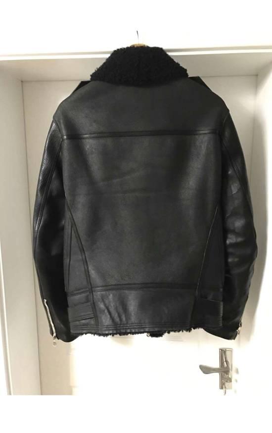 Balmain shearling leather biker jacket Size US M / EU 48-50 / 2 - 4