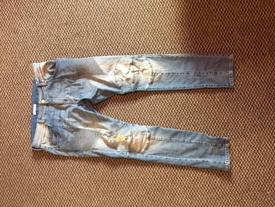 Balmain Distressed Biker Moto Jeans Size US 36 / EU 52 - 5