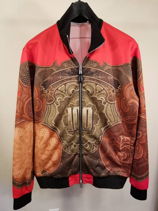 Givenchy Red Money Print Zip Up Jacket Size US L / EU 52-54 / 3
