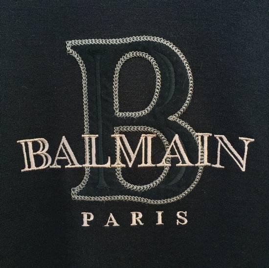 Balmain FREE SHIPPING!!! 100% Authentic Luxury Balmain / Pierre Balmain Embroidery Big Logo Sweastshirt / Balmain Crewneck Pullover Size US L / EU 52-54 / 3 - 1