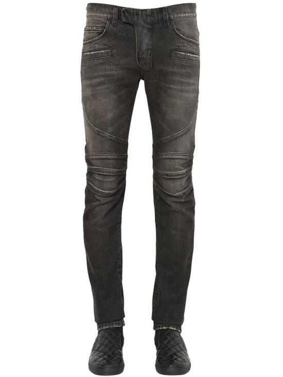 Balmain Balmain Washed Cotton Denim Black Biker $990 Authentic Jeans Size 31 New Size US 31