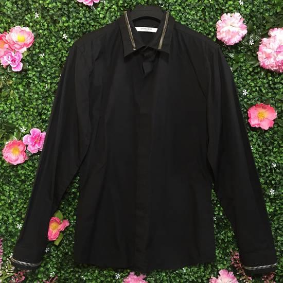 Givenchy Black Zipper Collar/Cuff Dress Shirt Size US XS / EU 42 / 0