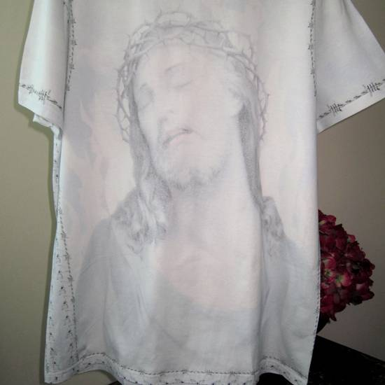 Givenchy GIVENCHY Jesus Cotton Jersey T-Shirt Columbian Fit 100% AUTHENTIC with Receipt! Size US S / EU 44-46 / 1 - 5