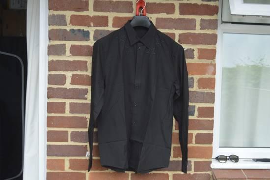 Givenchy Black Embroidered Outline Stars Shirt Size US L / EU 52-54 / 3