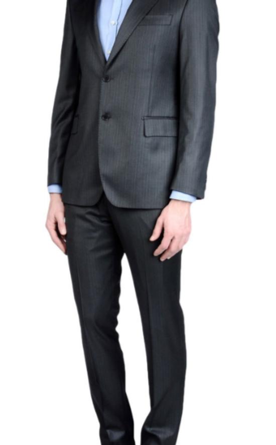 Balmain Brand New Grey Balmain Suit Size 52R