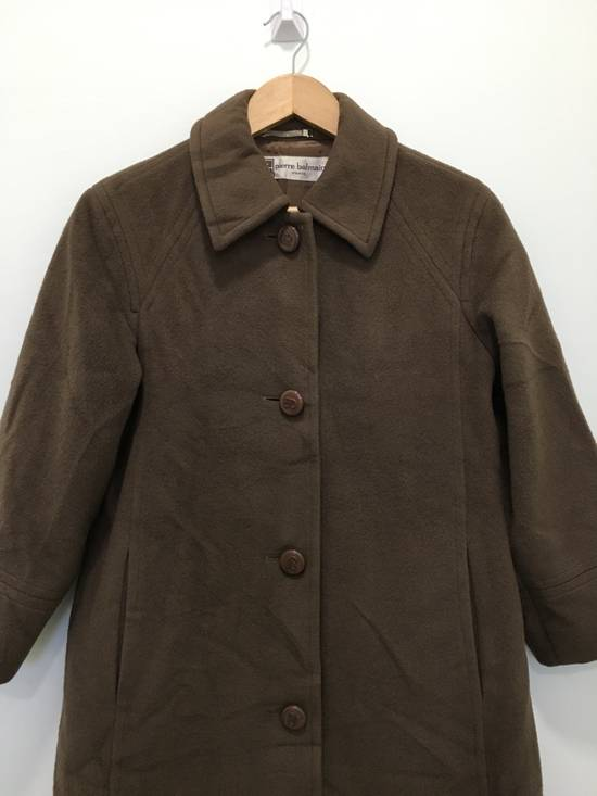 Balmain Vintage Pierre Balmain Paris Wool Long Coat Jacket Camel Brown Size US S / EU 44-46 / 1 - 3