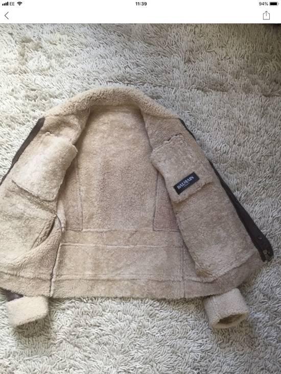 Balmain Balmain Shearling Lined Aviator Jacket Size US M / EU 48-50 / 2 - 9