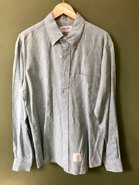 Thom Browne Button Down Linen Shirt Size US XXL / EU 58 / 5