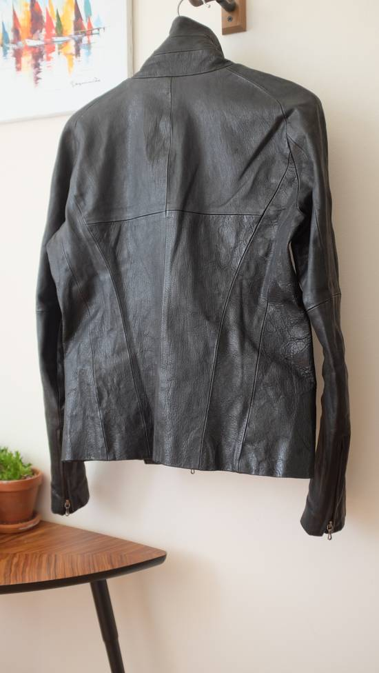 Julius 7 Goat High Neck Leather Jacket Size US S / EU 44-46 / 1 - 2